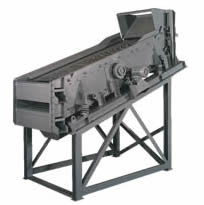 Deister, High capacity two-deck inclined scalping screen